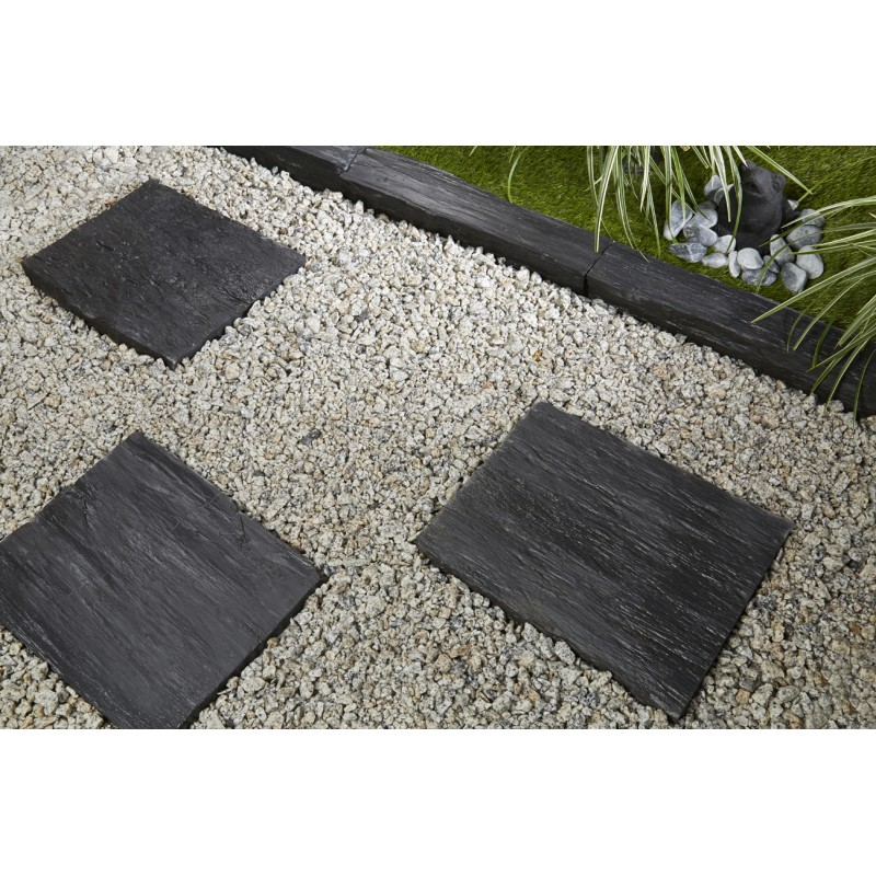 Bordure ardoise d co jardin penez herman for Bordure de jardin en pierre naturelle