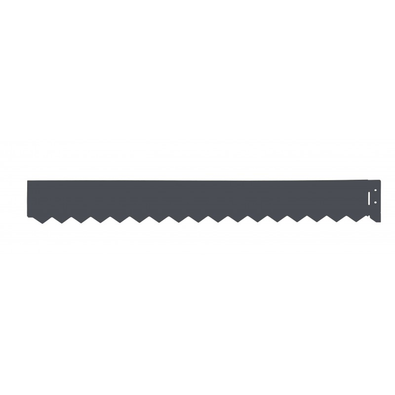 Bordure m tal galva color bordure jardin penez herman for Bordure de jardin gris anthracite