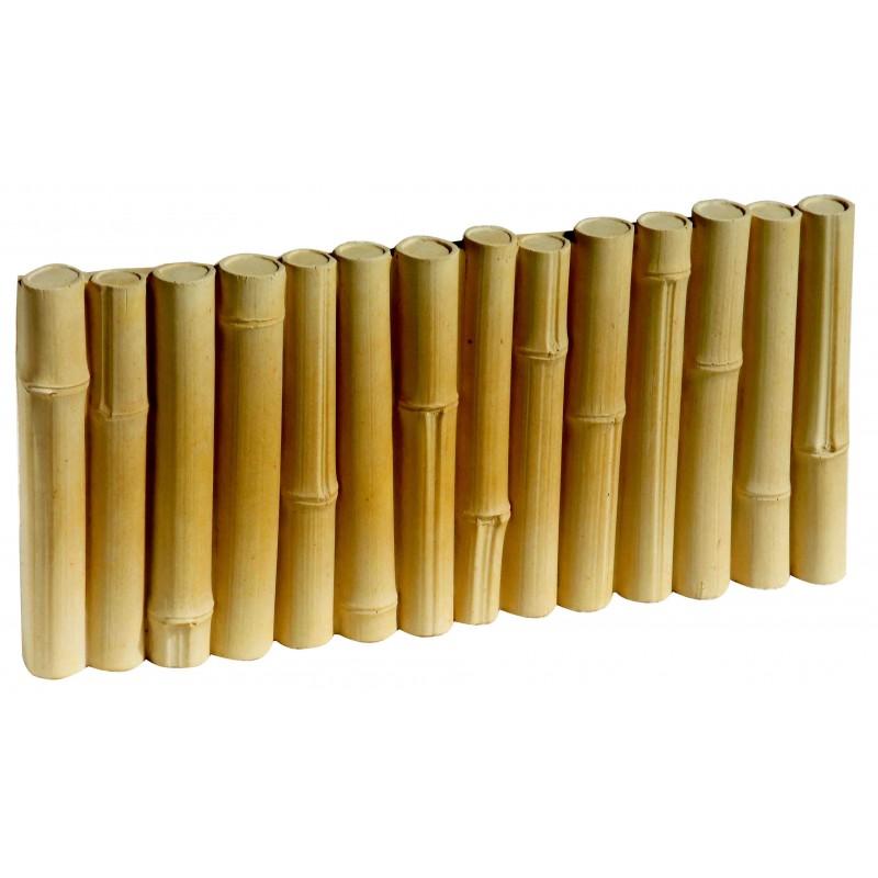 Bordure b ton imitation bambou bordure jardin penez herman for Bordure de jardin en bambou
