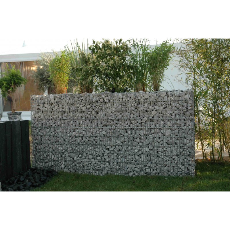 Gabion jardini re rectangulaire for Decoration jardin gabion