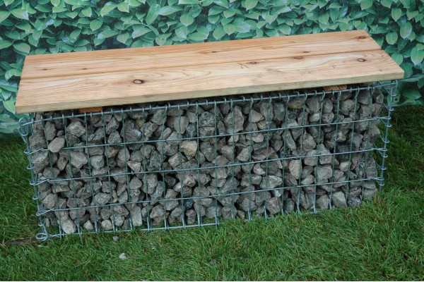 Gabion banc de jardin for Banc de jardin original