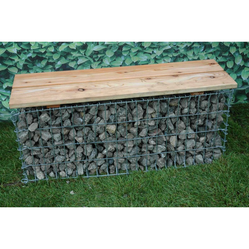 Gabion banc de jardin for Decoration jardin gabion
