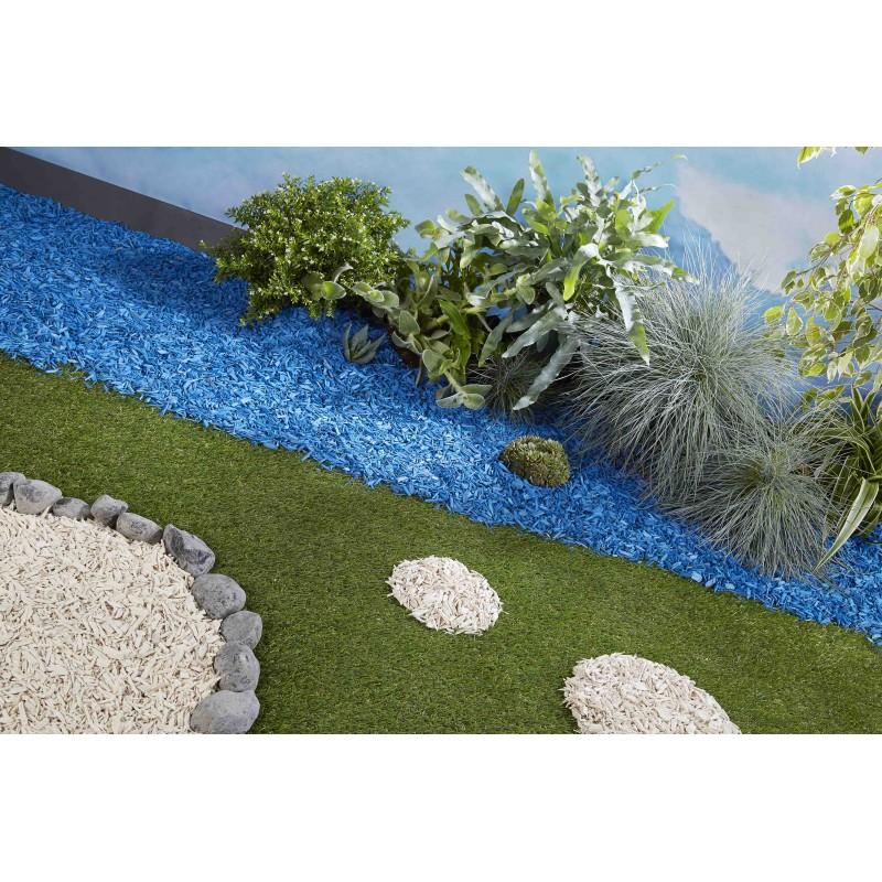 paillage organique color bleu azur. Black Bedroom Furniture Sets. Home Design Ideas