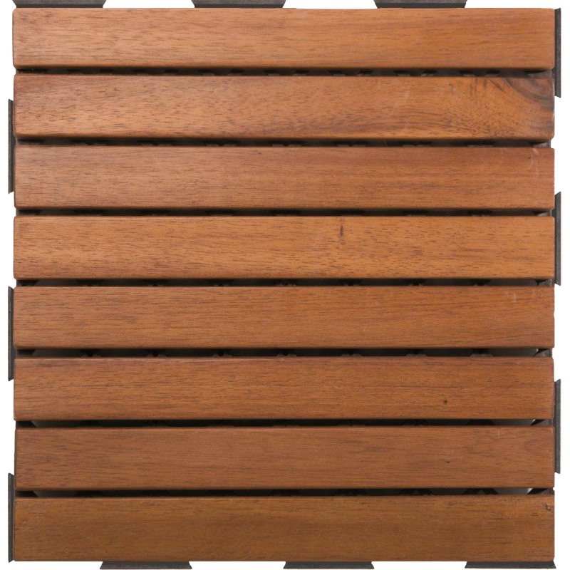 Dalle clipsable acacia 8 lames dallage penez herman - Dalle clipsable terrasse ...