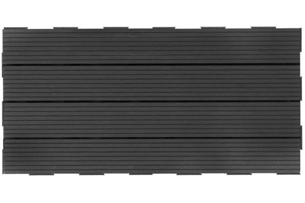 Dalle Composite Clipsable : Dalle clipsable couleur gris dallage terrasse et jardin