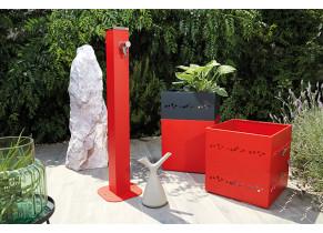 Fontaine Alu Rouge - Jardin