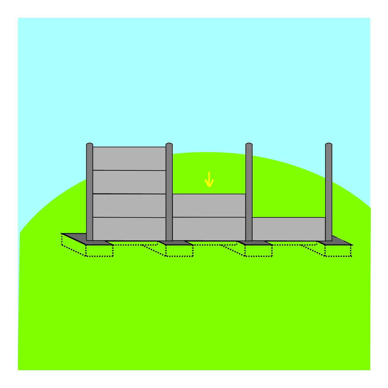 plaque pleine gravillonn e cl ture d limitation penez herman. Black Bedroom Furniture Sets. Home Design Ideas