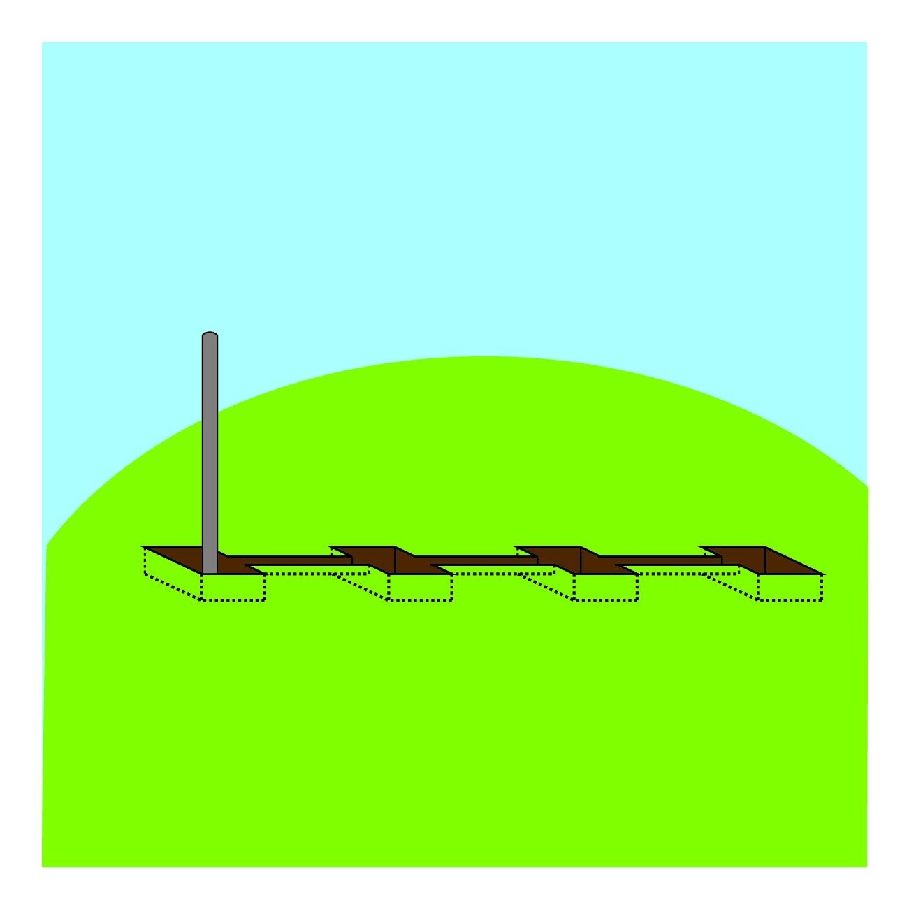Etape de pose 1 - clôture tressee