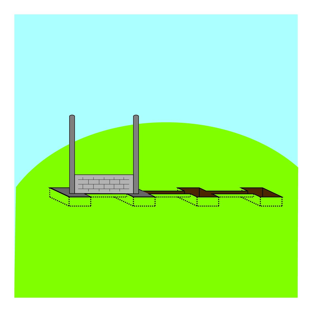 Etape de pose 3 - clôture tressee