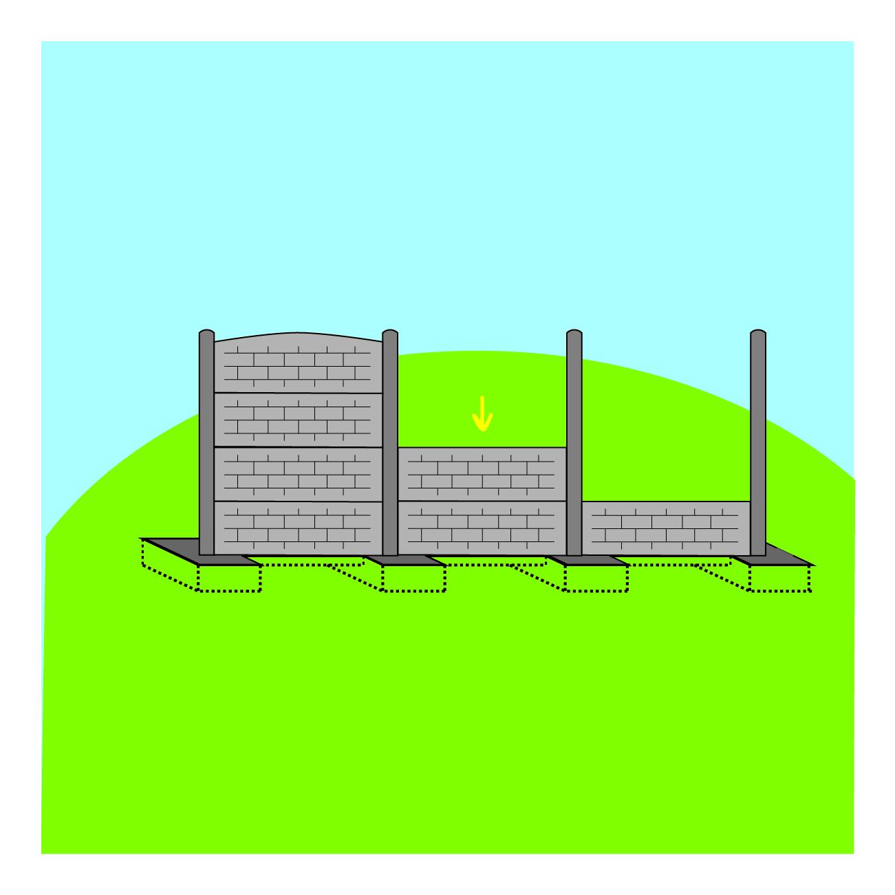 Etape de pose 5 - clôture tressee