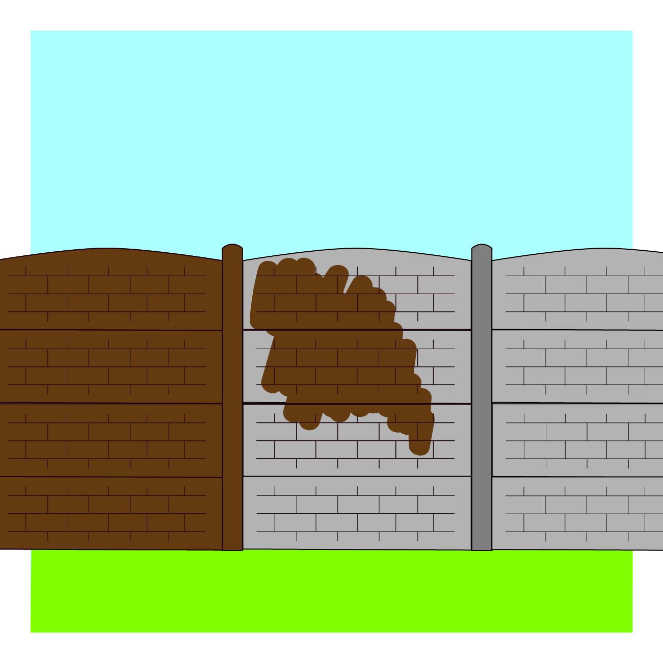Etape de pose 6 - clôture tressee